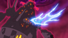 Dragapult usando carga dragón.