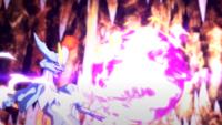 Kyurem blanco usando llama gélida.