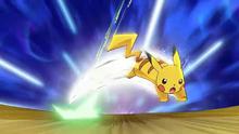 Pikachu usando Ataque rapido.