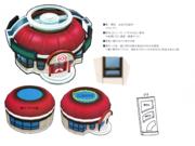 Bocetos Centro Pokémon Alola Exterior.png