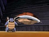 Blastoise usando giro rápido