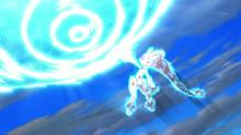 Mega-Mewtwo Y usando psíquico