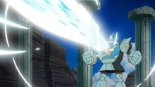 Golurk usando foco resplandor