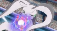 Goodra de Ash usando pulso dragón.