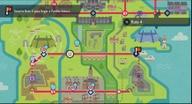 Localización de la ruta 4 en Galar