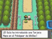 Recibiendo la Tarjeta Mapa en Pokémon Oro HeartGold y Plata SoulSilver.