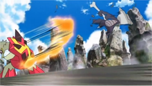 Turtonator usando cola dragón