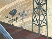 Se encuentra en el tejado junto con el anemómetro.