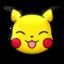 Pikachu risueño