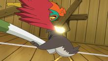 Hawlucha de Judith usando golpe kárate en un flashback del EP1123.