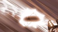 Golem de Alola de los Ultrahéroes usando pedrada.