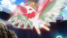 Hawlucha de Ash usando plancha voladora.