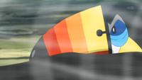 Toucannon usando viento afín.