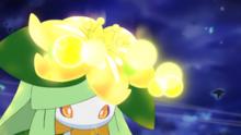 Lilligant usando rayo solar