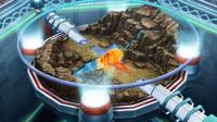 Mega-Charizard Y de Trevor/Trovato usando giro fuego.