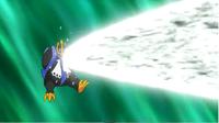 Empoleon usando foco resplandor.