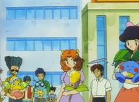 Oddish junto a otros Pokémon.