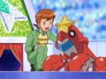 Kyle (Sinnoh) junto a sus Pokémon.