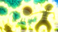 Voltorb del sueño de Ash usando chispazo.