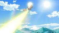 Zangoose usando rayo solar.