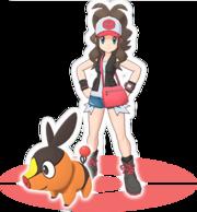 Liza y Tepig Pokémon Masters.png