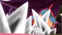 Maximetal de Pikachu Gigamax Impactando