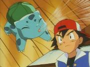 Bulbasaur de Ash usando remolino.