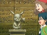 Estatua con forma de Pikachu