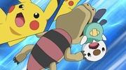 EP672 Sandile mordiendo a Pikachu y Oshawott.jpg