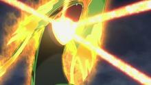 Mega-Rayquaza usando cometa draco.