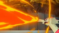 Turtonator de Kiawe usando lanzallamas.