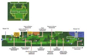 Mapa de la ruta 123