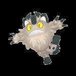 Meowth de Galar macho