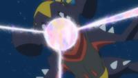 Garchomp usando pulso dragón.