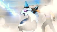 Mega-Glalie usando Rayo hielo.