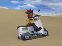 Motod de Mauro atascada en el desierto