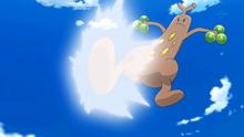 Sudowoodo de Brock usando patada baja.