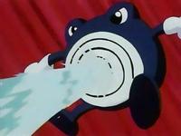 Poliwhirl usando pistola de agua.