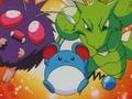 Tracey Sketchit junto a sus Pokémon.