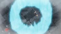 Probopass de Olivia/Mayla usando trampa rocas en un flashback del EP979.