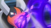 Mega-Houndoom usando pulso umbrío.
