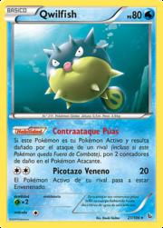 Qwilfish (Destellos de Fuego TCG).png