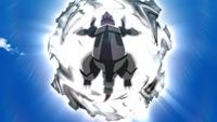Mega-Aggron usando cuerpo pesado.