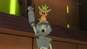 EP868 Chespin y Clembot festejando.png