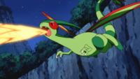 Flygon usando hiperrayo.