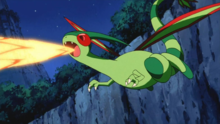 Flygon usando Hiperrayo