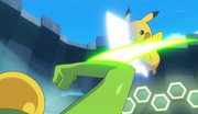 EP931 Pikachu recibiendo hoja aguda.png