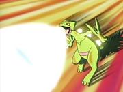 Sceptile lanzando rayo solar.