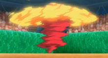 Incineroar usando lariat oscuro