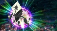 Tapu Koko usando brillo mágico.